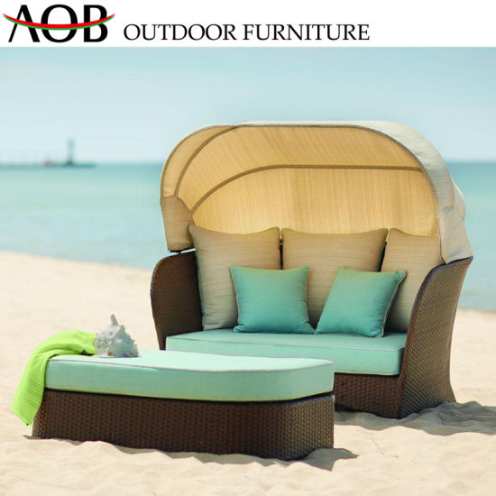 Incredible China Outdoor Garden Pool Furniture Balcony Rattan Wicker Deck Chair Lounge Lying Square Bed Beach D Cjindustries Chair Design For Home Cjindustriesco