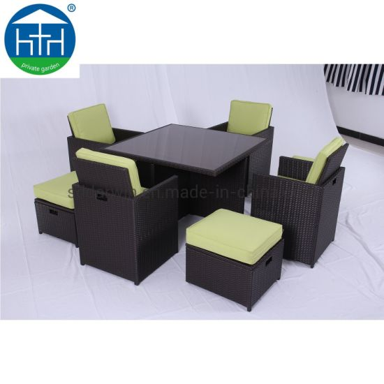 China Wholesale Dining Cube Rattan Cube Furniture Bistro Cube Table pictures & photos