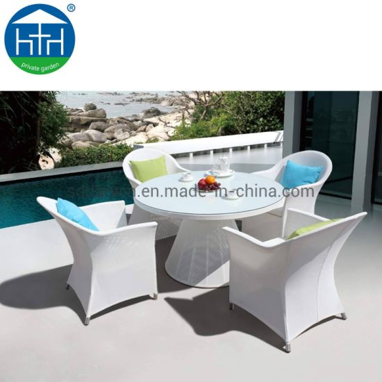 China Traditional Outdoor Patio Garden Furniture Rattan Wicker Dining Table Set China Outdoor Patio  pictures & photos