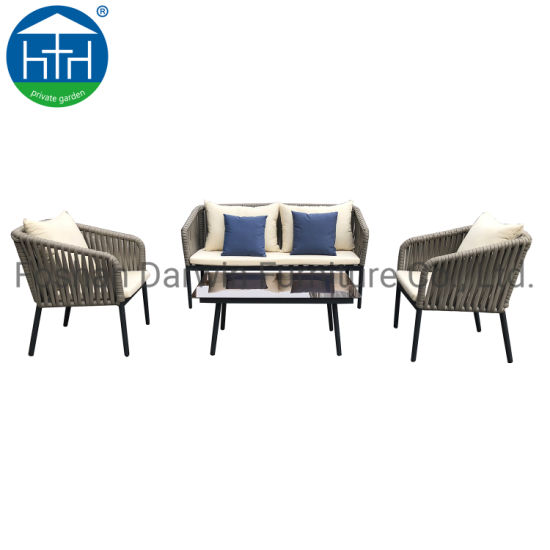 China Garden Rope Furniture Garden Rope Sofa Patio Rope Sofa Lounge