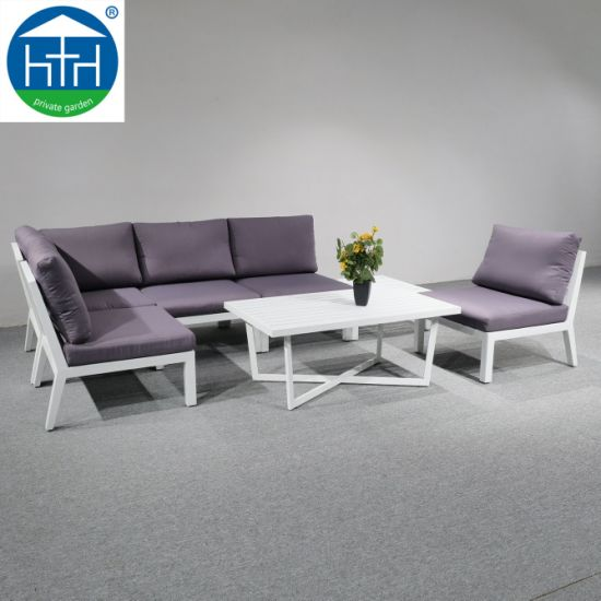 China Aluminum Sofa Set Patio Sofa Garden Sectional Sofa