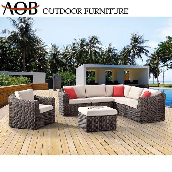 China Chinese Modern Outdoor Garden Home Hotel Patio Woven Rope Beach Side  Sofa Furniture Aluminium
