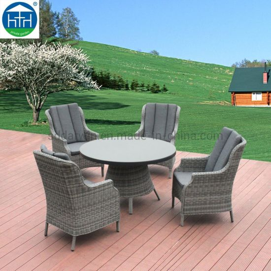 Groovy China Rattan Dining Furniture Patio Hotel Furniture Terrace Dining Table Short Links Chair Design For Home Short Linksinfo