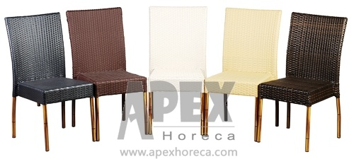 China Aluminum Rattan Chair Sidechair Dining Chair