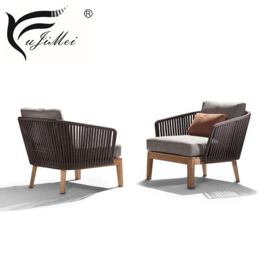 China Teak Wood Outdoor Furniture Roof Top Patio Sofa Furniture