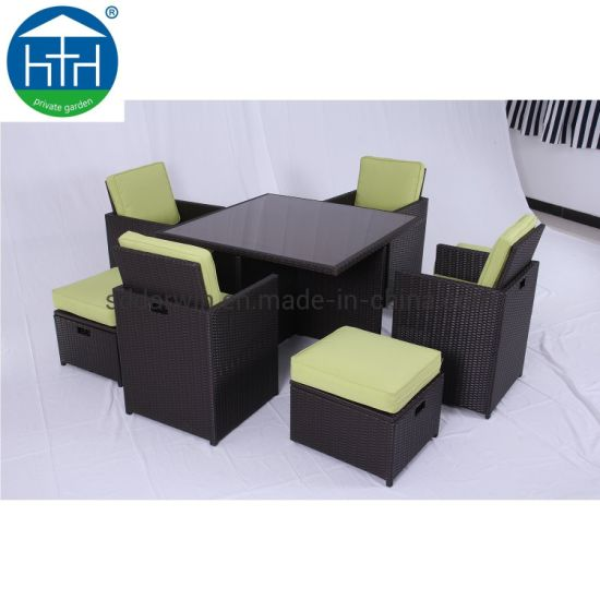 Strange China Morden Style Restaurant Patio Garden Furniture Rattan Dining Table Chair Set Short Links Chair Design For Home Short Linksinfo