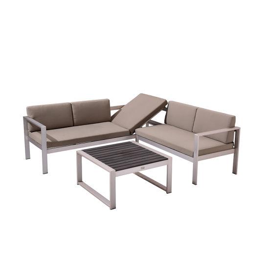 China Outdoor Wooden Table Modern Adjustable Deck Chair Garden Sofa Sets