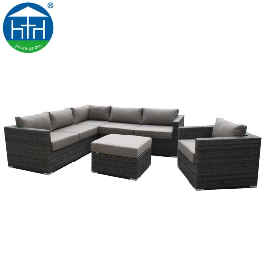 Admirable China Popular L Shape Outdoor Garden Furniture Sectional Wicker Sofa Sets Ibusinesslaw Wood Chair Design Ideas Ibusinesslaworg
