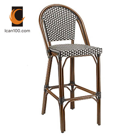 Outstanding China Water Proof Commercial Metal Bamboo Looking Rattan High Bar Stools Chairs Pabps2019 Chair Design Images Pabps2019Com