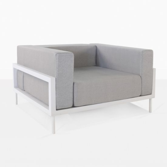 Excellent China Garden White Powder Coated Aluminum Single Sofa Pabps2019 Chair Design Images Pabps2019Com
