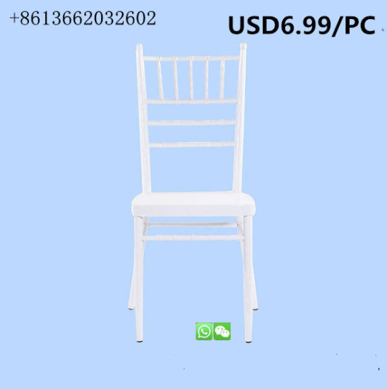 China Banquet Furniture Resin Chiavari Dining Wedding Chair for Hot Sale