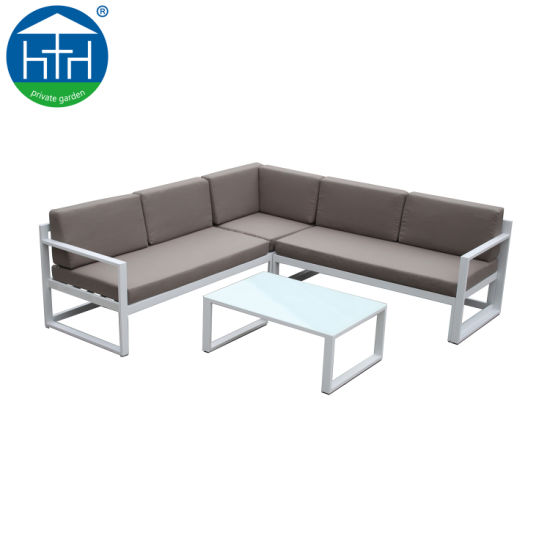 I-China Bronze Aluminium Patio Sofa Iseti yeFenitshala yeSofa yasePatio yasePatio