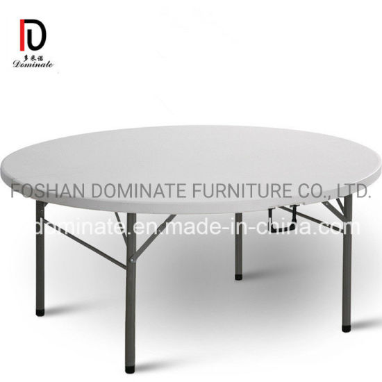 China Event Rental Outdoor 71 Inches 6FT Plastic Folding Round Table