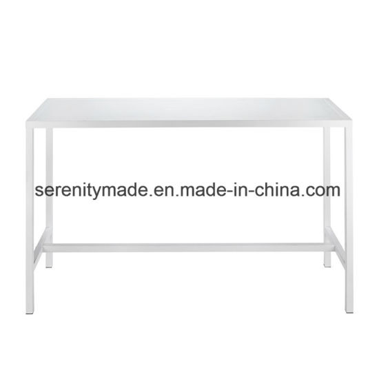China Outdoor Furniture White Bench High Bar Cocktail Dining Table