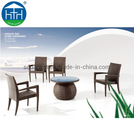 Brilliant China Outdoor Pe Rattan Modern Dining Table Chair Set Rattan Garden Furniture Inzonedesignstudio Interior Chair Design Inzonedesignstudiocom
