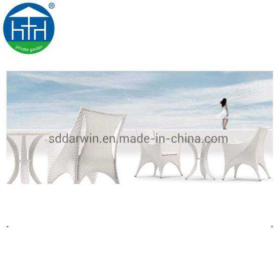 China Patio Chairs Table Outdoor Garden Dining Set Wood-Plastic Furniture