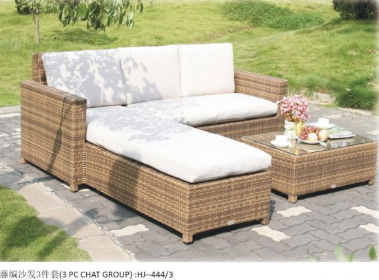 China Sofa Kunja kwa Sofa Patio Rattan Sofa Garden Rattan Sofa