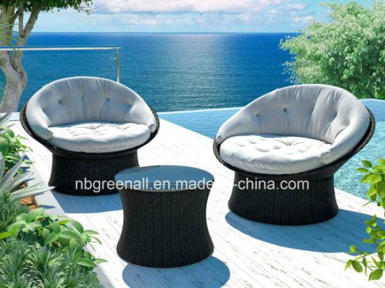 China 360 Degrees Rotating Outdoor Rattan Wicker Sofa Leisure Garden Furniture