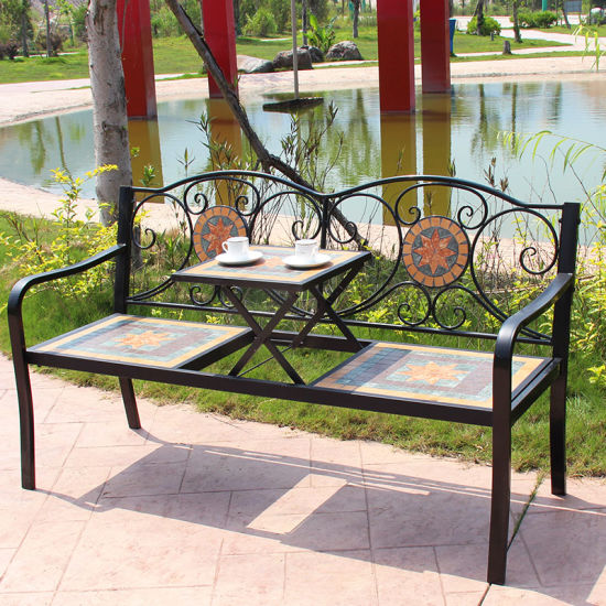 Super China Country Style Mosaic Patio Bench Garden Bench Gmtry Best Dining Table And Chair Ideas Images Gmtryco