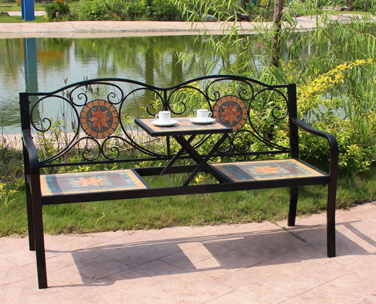 Swell China Country Style Mosaic Patio Bench Garden Bench Gmtry Best Dining Table And Chair Ideas Images Gmtryco