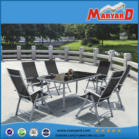 China European Style Foldable Garden Outdoor Dining Chairs