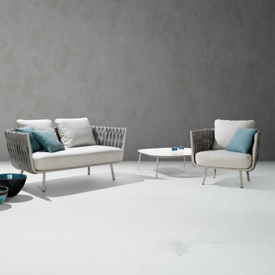 China Fashion New Design Simple Elegant Tea Sofa Chair Table Set