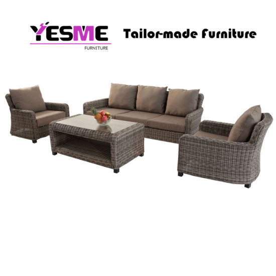 China Chinese Modern Outdoor Sofa Set Patio Garden Home Hotel Living Room  Lounge Sets Round Wicker R