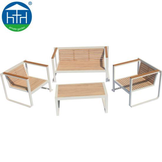 China Eco Friendly Customize Oem Odm Wood Sofa Set Hotel Patio Furniture