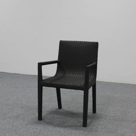 China Outdoor Furniture Aluminum Frame Rattan Dining Armchair