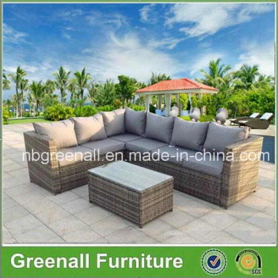 China Outdoor Rattan Wicker Sofa Garden Set
