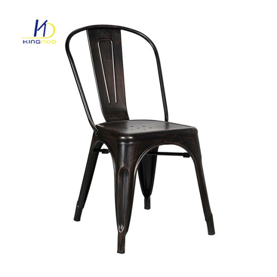 China Restaurant Furniture Bistro Metal Dining Chairs