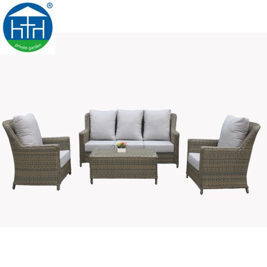China Customize Big Load Capacity High End Handmade Patio Furniture Sofa Set
