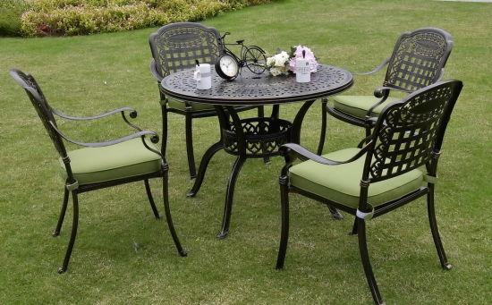 Miraculous China Garden Cast Aluminum Outdoor Dining Table Theyellowbook Wood Chair Design Ideas Theyellowbookinfo