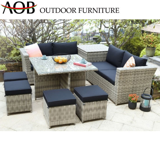 China Modern Outdoor Garden Sets Patio Home Hotel Poolside Resort Leisure Sectional Rattan Wicker Lo