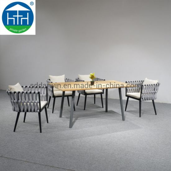 Remarkable China New Arrival Morden Aluminium Garden Dining Set Aluminium Table Outdoor Chairs Polyester Rope W Uwap Interior Chair Design Uwaporg