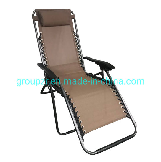 Fine China Zero Gravity Outdoor Portable Folding Camping Leisure Beach Chair With Pillow Armrest Luxury L Unemploymentrelief Wooden Chair Designs For Living Room Unemploymentrelieforg