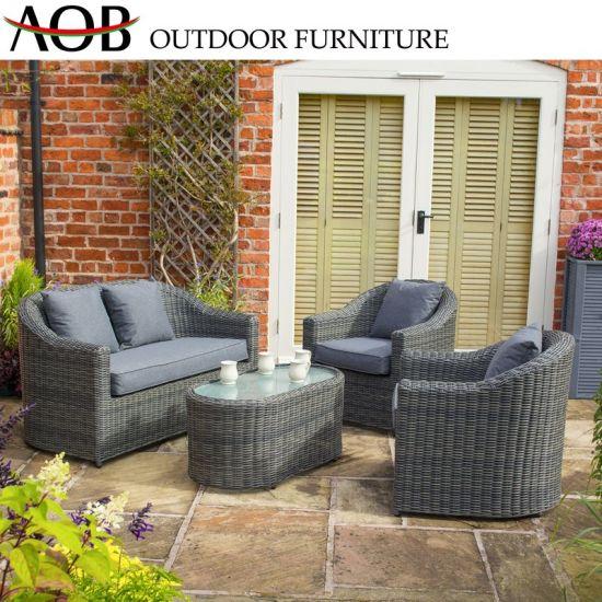 Super China Chinese Modern Comfortable Sofa Set With Cushion Grey Rattan Wicker Outdoor Garden Furniture Machost Co Dining Chair Design Ideas Machostcouk