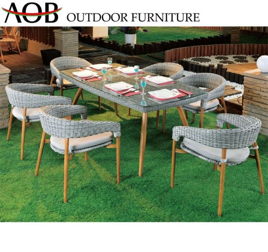 Fine China Garden Set Outdoor Furniture Round Wicker Circle Rattan 6 Seater Dining Table Chair Set Bralicious Painted Fabric Chair Ideas Braliciousco