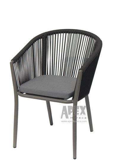 China New Design Aluminum Garden Hotel Restaurant Rope Chairs