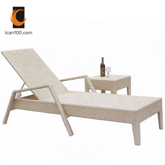 China Scratch Resistant Commercial Beach Sun Bed Swimming Pool Lounge Chair