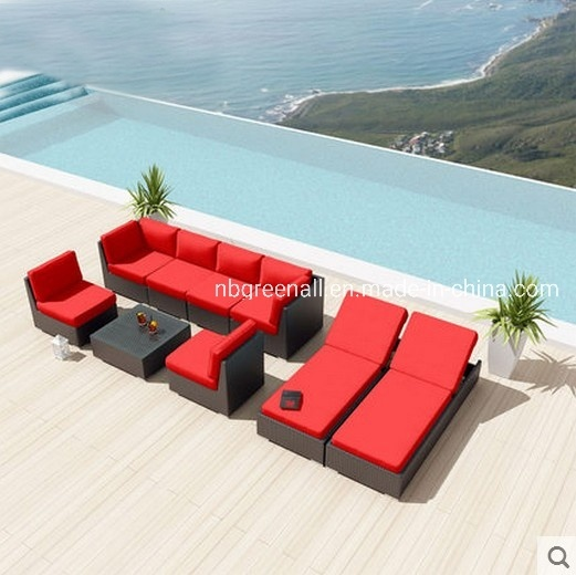 China New Combination Outdoor Garden Home Rattan Wicker Sofa with Lounge  Furniture