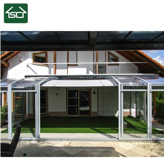 China Personal Service Tailored Angle Style Aluminium Framed Attached to House Sunroom Gardenroom