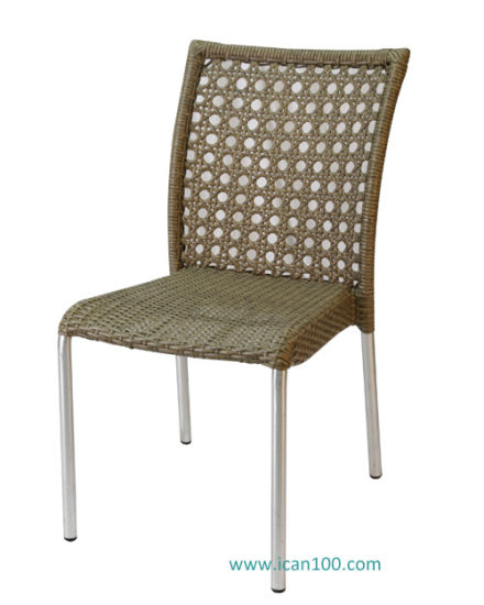 China Water Proof Rattan Wicker Outdoor Garden Patio Restaurant Furniture Metal Rattan Wicker Chair