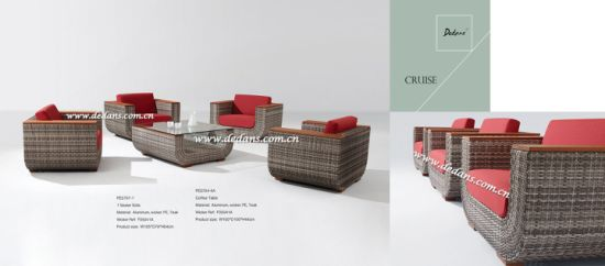 China Cruise Outdoor Wicker Woven L Shape Sectional Sofa Collection