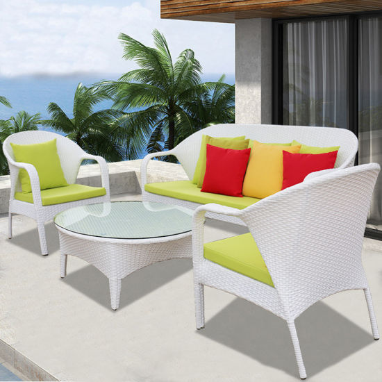China New Outdoor Garden Blown White Furniture Set for Wholesale