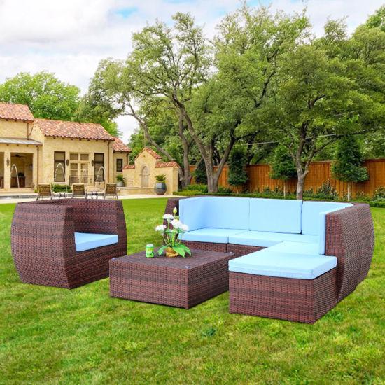 I-China Pure Handwork Rattan Multiform Sofa Set in Hot Sale izithombe nezithombe