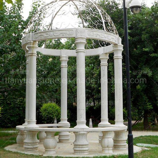 China Garden Made Hcarved Marble Stone Gazebo Pagoda Gloriette