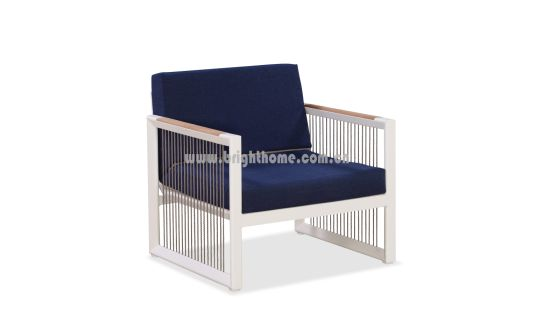 China Factory Supply Modren Leisure Popular Garden Aluminium Isakhelo Ihotele yangaphandle Sofa Set ngemifanekiso Teak & iifoto