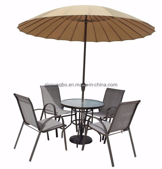 China 9FT of 10FT glasvezel ribben Outdoor Garden Party Parasol