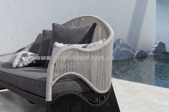 चीन फॅक्टरी सप्लाय स्पेशल डिझाईन अॅल्युमिनियम फ्रेम गार्डन दोरी एचएमड आउटडोअर सोफा फर्निचरची चित्रे आणि फोटो